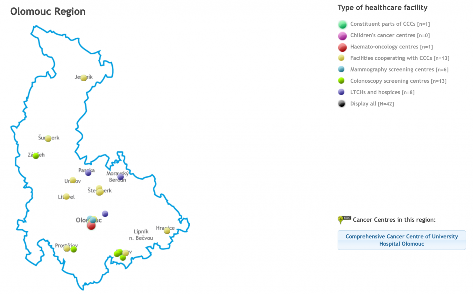 NOP Map of regional cancer care