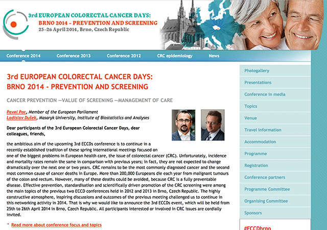 www.crcprevention.eu - information and communication platform focusing on the promotion of colorectal cancer prevention
