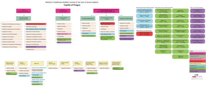 click on the image to display the PDF version of diagram depicting relations among facilities providing cancer care in the Capital of Prague